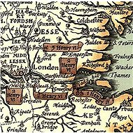 Shakespeare´s Britain 1965, 68x52cm lamino s plastovými lištami nástěnná mapa - Mapa