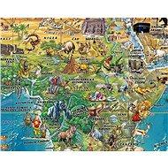 Dětská mapa světa 98x138cm lamino, lišty nástěnná mapa CZ - Mapa
