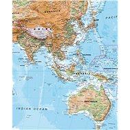 Svět geografický 117x192cm lamino, plastové lišty nástěnná mapa - Mapa