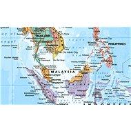 Svět politický s vlajkami Color 102x138cm lamino, lišty nástěnná mapa - Mapa