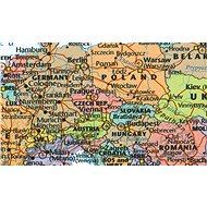 Svět politický s vlajkami XL Color 130x180cm lamino, lišty nástěnná mapa - Mapa