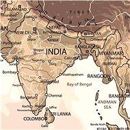 Svět SÉPIE 120x186cm lamino, lišty nástěnná mapa - Mapa