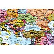 Svět Terra Obří politický 120x195cm lamino, lišty nástěnná mapa CZ - Mapa