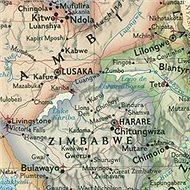 Afrika politická Executive 78x61cm lamino, plastové lišty nástěnná mapa - Mapa
