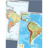 Amerika jih Duo politická/fyzická 100x130cm lamino, lišty oboustranná nástěnná mapa SK - Mapa