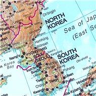 Asie geografická 120x100cm lamino, lišty nástěnná mapa - Mapa