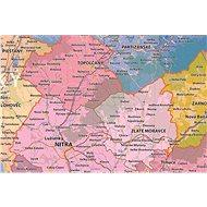 Slovensko kraje a územní obvody, 140x285cm lamino, lišty nástěnná mapa - Mapa