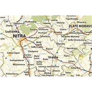 Slovensko silniční XL 1:250t,90x175cm lamino, plastové lišty nástěnná mapa - Mapa