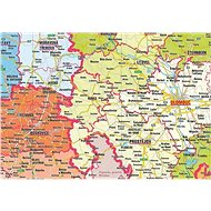 Česká republika administrativní 90x135cm lamino, lišty nástěnná mapa - Mapa