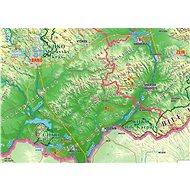 Česká republika zeměpisná 100x140cm lamino, lišty nástěnná mapa - Mapa