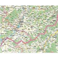 Česko a Slovensko automapa 140x200cm lamino, lišty nástěnná mapa - Mapa