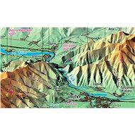 Malá a Velká Fatra XL 83x160cm panoramatická lamino, lišty nástěnná mapa - Mapa
