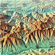 Nízke Tatry XL 83x160cm panoramatická lamino, lišty nástěnná mapa - Mapa