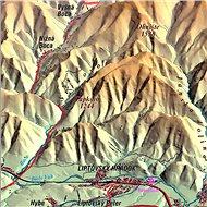 Nízke Tatry ze severu XL 102x160cm panoramatická lamino, lišty nástěnná mapa - Mapa