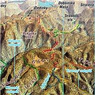 Slovenský raj 65x100cm panoramatická lamino, lišty nástěnná mapa - Mapa