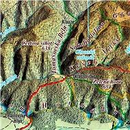Slovenský raj XL 102x160cm panoramatická lamino, lišty nástěnná mapa - Mapa