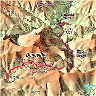 Velká Fatra 70x100cm panoramatická lamino, lišty nástěnná mapa - Mapa