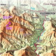 Velká Fatra XL 110x160cm panoramatická lamino, lišty nástěnná mapa - Mapa