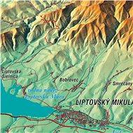 Vysoké Tatry XL 83x160cm panoramatická lamino s lištami nástěnná mapa - Mapa