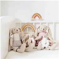 Canpol babies Zajíček Bunny s chrastítkem růžový - Plyšák