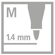 STABILO Pen 68 metallic 8 ks kovové pouzdro  - Fixy