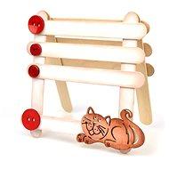 Optys dřevěný výřez kočička, 8 x 4,5 cm - Dřevěné výřezy