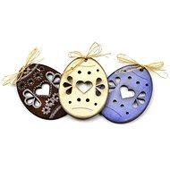 Optys dřevěný výřez velikonoční vajíčko srdíčko, 5,1 x 7 cm - Dřevěné výřezy