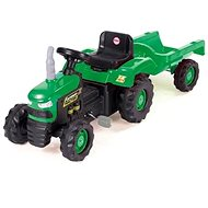 Dolu Traktor šlapací s vlečkou, zelený - Šlapací traktor
