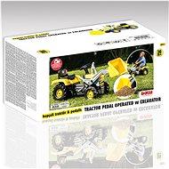 Dolu Velký šlapací traktor s rypadlem - Šlapací traktor