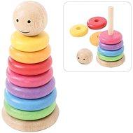 Bigjigs Toys Duhový panáček - Didaktická hračka