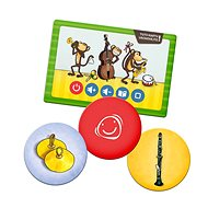 Kouzelné čtení - Hra Pexeso - Hudební nástroje - Kniha pro děti