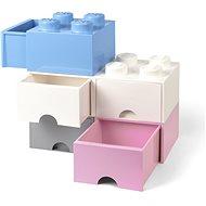 LEGO Úložný box 4 s šuplíkem - světle růžová - Úložný box