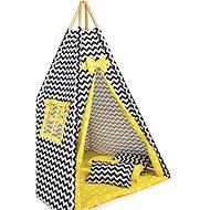 BabyTýpka teepee Chevron yellow - Dětský stan