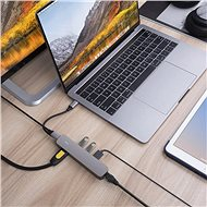 HyperDrive 6-in-1 USB-C Hub with 4K HDMI Output - Space Gray - Replikátor portů