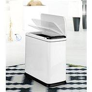 iQtech Regeman 9 l, odpadkový koš bezdotykový, hranatý, bílý - Bezdotykový odpadkový koš