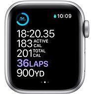Apple Watch Series 6 44mm Stříbrný hliník s bílým sportovním řemínkem - Chytré hodinky