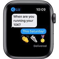 Apple Watch Nike Series 6 44mm Vesmírně šedý hliník s antracitovým/černým sportovním řemínkem Nike - Chytré hodinky