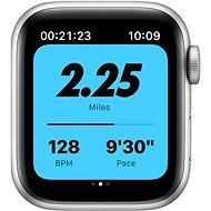 Apple Watch Nike SE 40mm Stříbrný hliník s platinovým/černým sportovním řemínkem Nike - Chytré hodinky