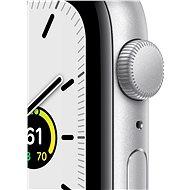 Apple Watch SE 44mm Stříbrný hliník s bílým sportovním řemínkem - Chytré hodinky