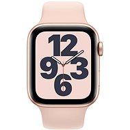 Apple Watch SE 44mm Zlatý hliník s Pískově růžovým sportovním řemínkem - Chytré hodinky