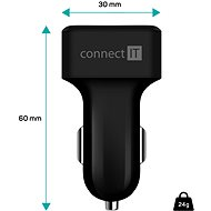 CONNECT IT InCarz Digi CCC-4020-BK černá - Nabíječka do auta