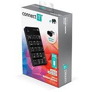 CONNECT IT NumCALC CKB-0061-BK, černá - Numerická klávesnice