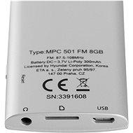 Hyundai MPC 501 FM 8GB stříbrný - MP4 přehrávač