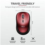 Trust Yvi Wireless Mouse, červená - Myš
