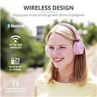 Trust Tones Wireless Headphones růžové - Bezdrátová sluchátka