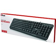 Trust Ziva Multimedia Keyboard - CZ/SK - Klávesnice
