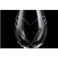 B.BOHEMIAN Svatební skleničky 360 ml HEARTS 2 ks - Sklenice na bílé víno