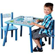 Kesper Sada dětský stolek se dvěmi židlemi modrý - Dětský nábytek
