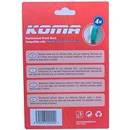 KOMA Náhradní hlavice NK02 ke kartáčkům Philips Sonicare Pro Results HX6014, 4ks - Náhradní hlavice