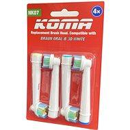 KOMA Náhradní hlavice NK07 ke kartáčkům Braun Oral-B 3D WHITE, 4ks - Náhradní hlavice